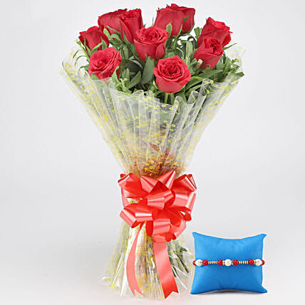 Rakhi with Roses Online