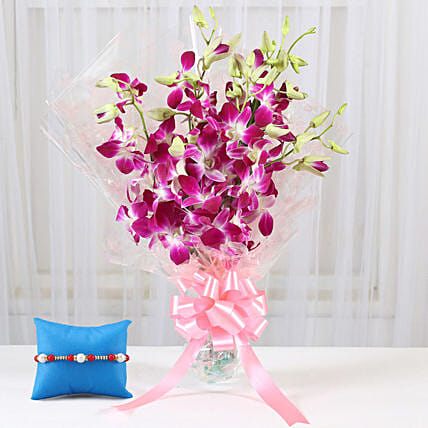 Rakhi with Orchids Online