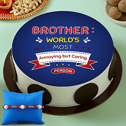 Rakhi Cake for Brother Online