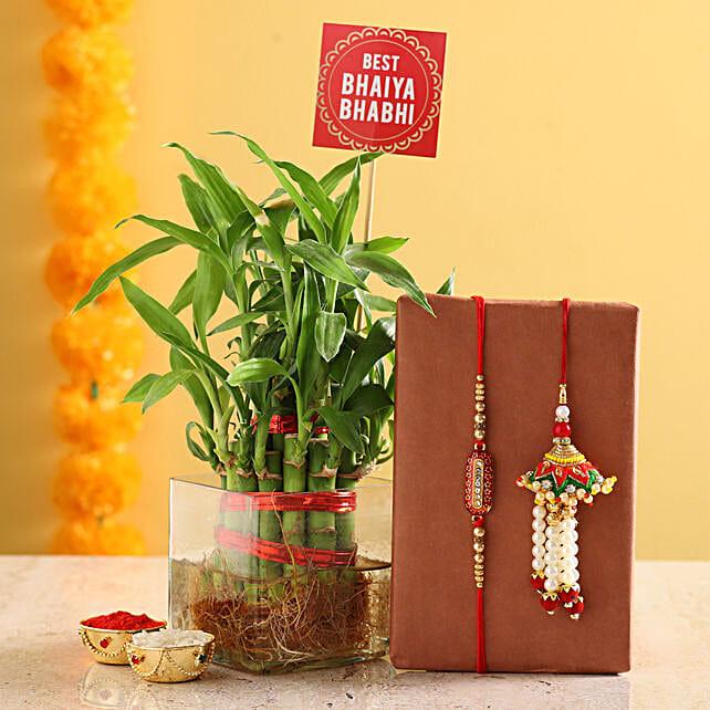 Plant With Rakhi & Roli Set