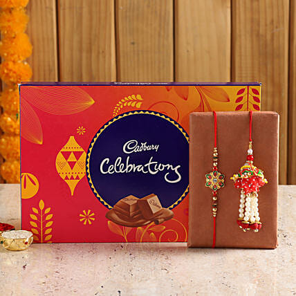 online celebration box with rakhi for brother