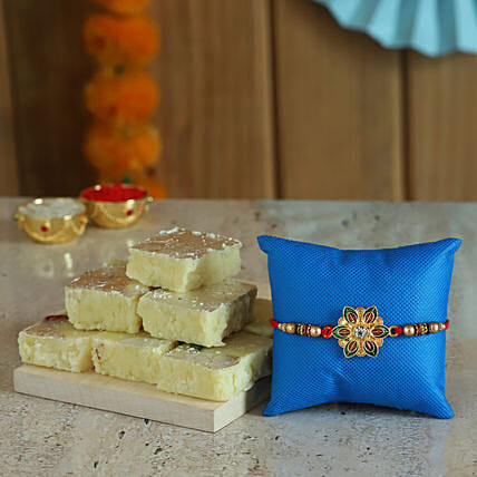 Online Designer Rakhi  With Sweets:Rakhi With Sweets Chandigarh