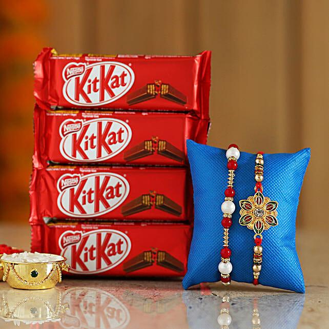 rakhi with chocolate for brother online:Rakhi Gifts to Akola