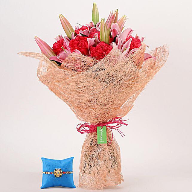 Beautiful Flowers & Meenakari Rakhi