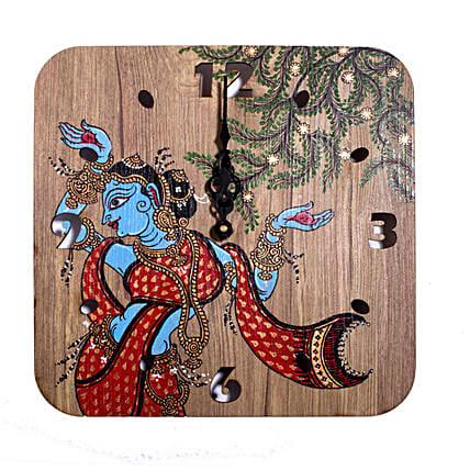 Indian Goddess Printed Wall Clock:Wall-Clocks