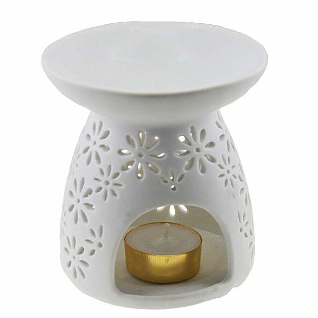 Ceramic Burner with Floral Jali
