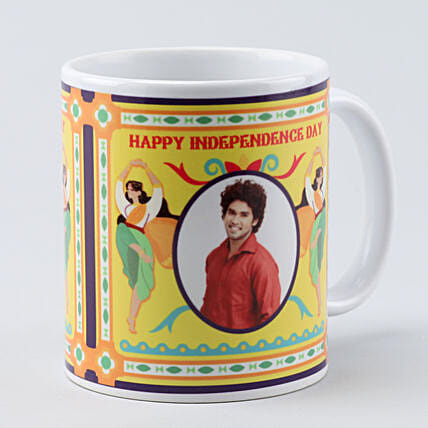 personalised white happy independence day mug:Independence Day Gifts
