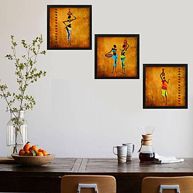 African vintage art Framed Wall