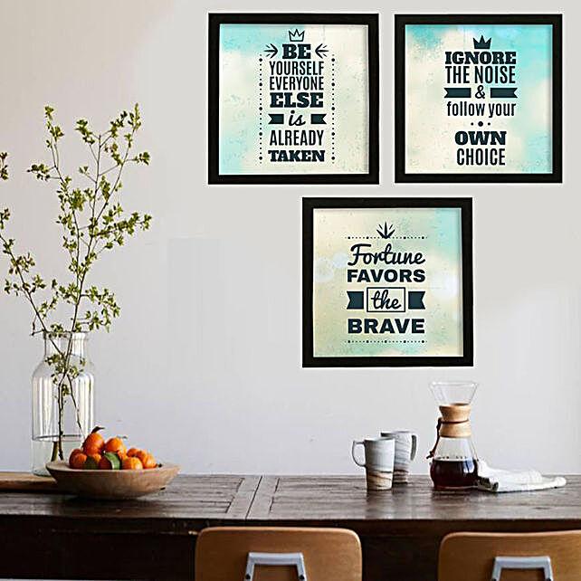 Fortune Favors the Brave Framed