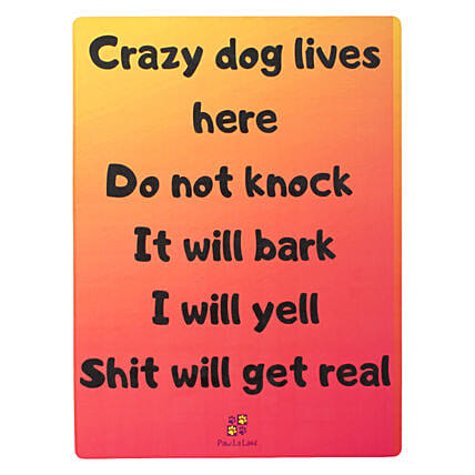 Wooden Dog Quote Wall Hanging