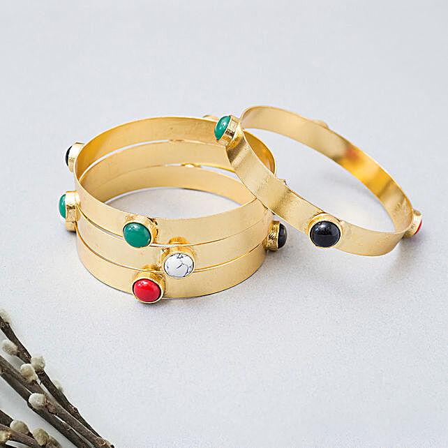 Set Of 4 GT studded bangles