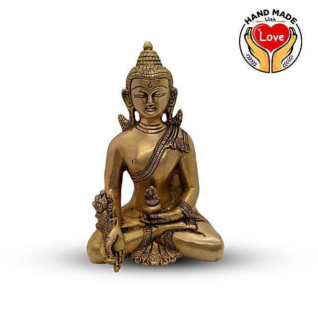 Buddha Flower Hand down Figurine Online