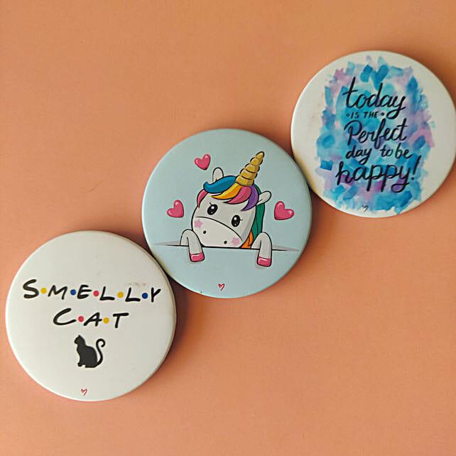 Baby Unicorn Badge Magnet Set