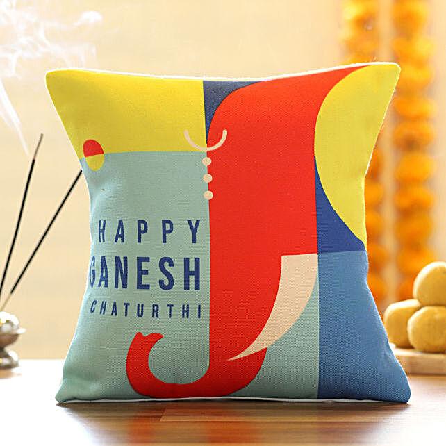 Printed Ganesh Chaturthi Cushion