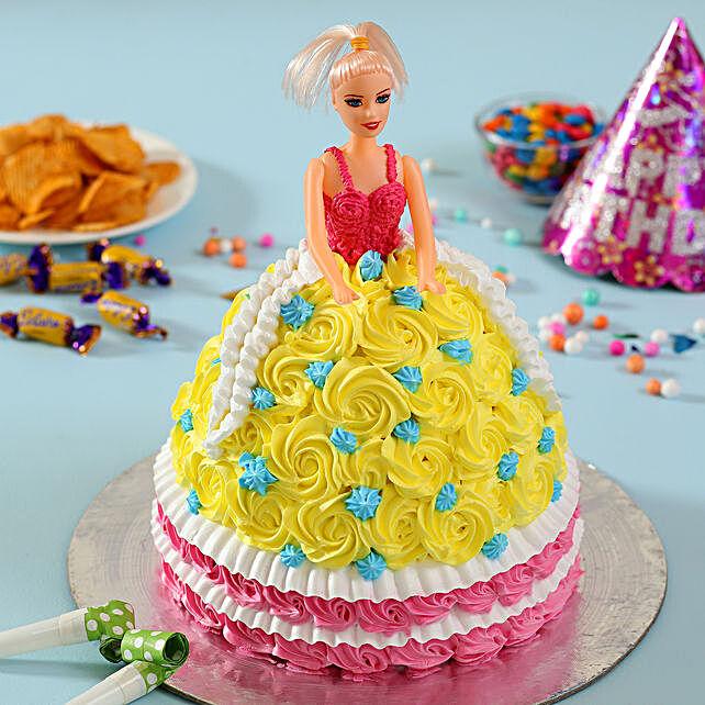 Rosy Barbie Cake Black Forest 3kg