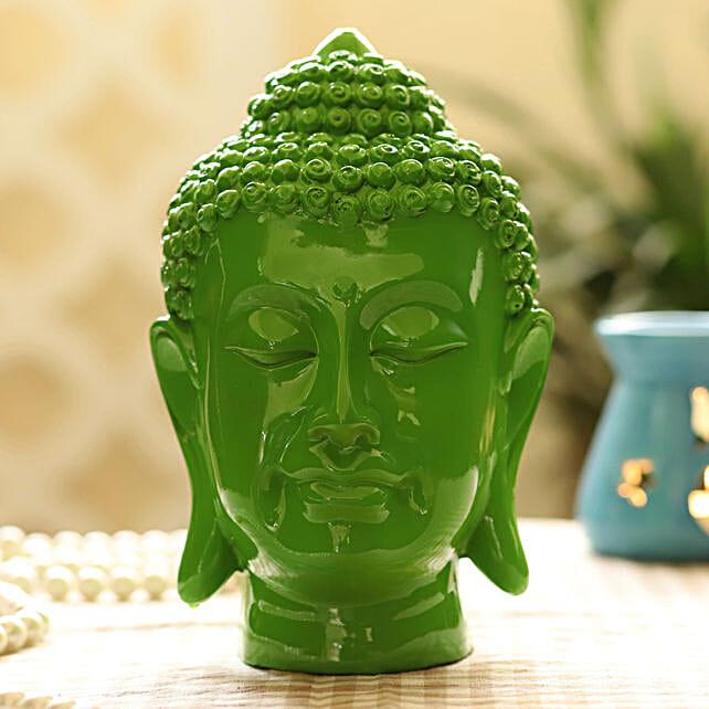 green buddha idol
