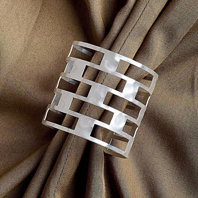 Silver Wirst Cuff Bracelet for Women