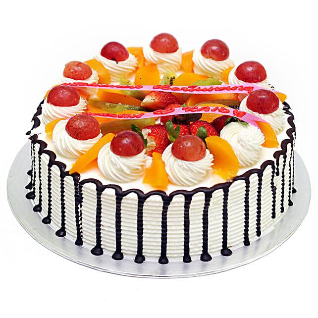 Rich Choco Fruit Cream Cake:Buy Fruit Cake