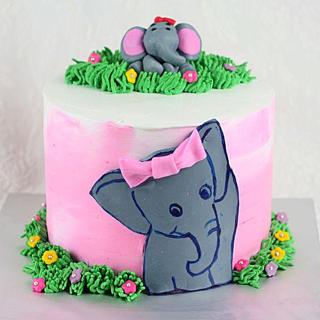Jungle Theme Chocolate Cake for Kids