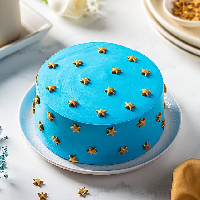 Blue Choco Cream Cake:Birthday Cakes for Girls & boys
