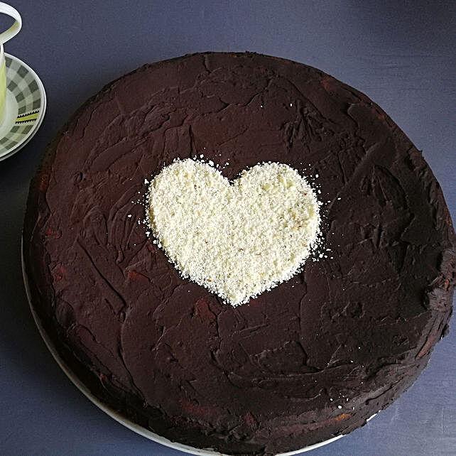 Designer Heart Truffle Cake