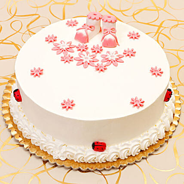 Baby Girl Chocolate Cake