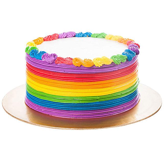 Designer Rainbow Pineapple Cake