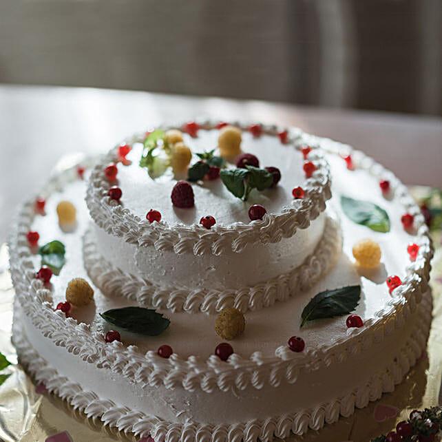 OnlineLeafy Pineapple 2 Tier Cake