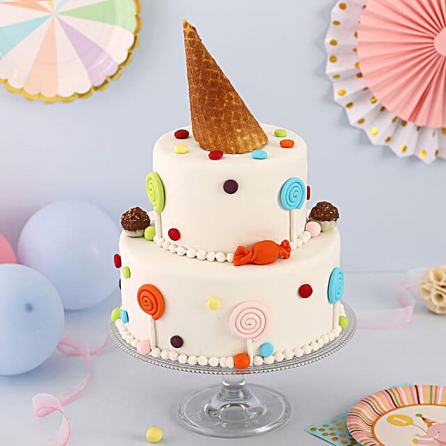 OnlineParty Lover 2 Tier Truffle Cake