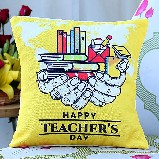 Imparting Knowledge Teachers Day Cushion
