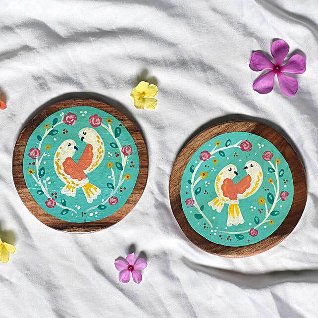 Printed Wooden Tea Coasters