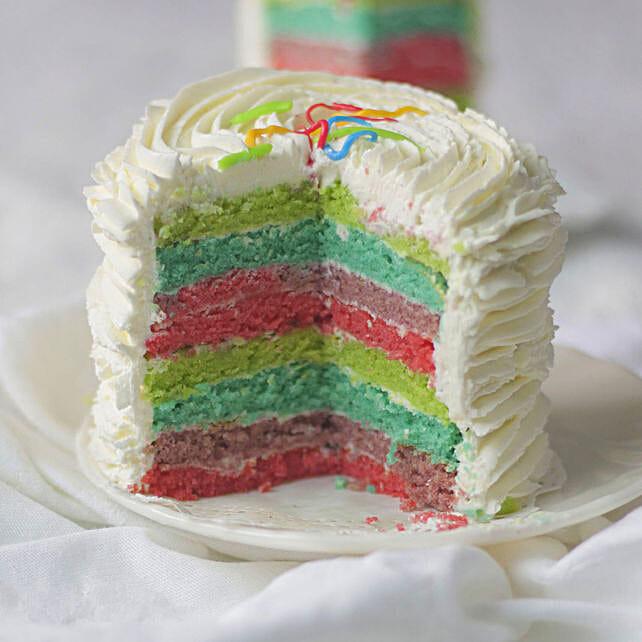 Yummy Vanilla Cream Cake