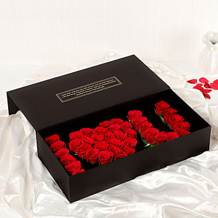online I heart you roses box online