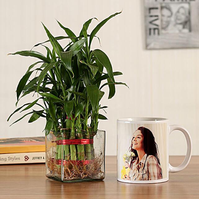 2 Layer Bamboo Personalised White Mug