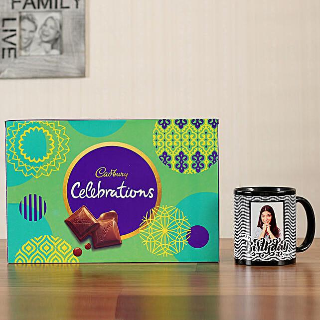 Cadbury Box Picture Black Mug