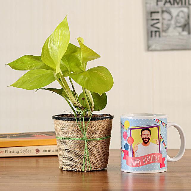 Money Plant Personalised White Bday Mug