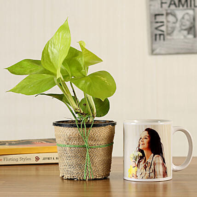 Money Plant Personalised White Mug