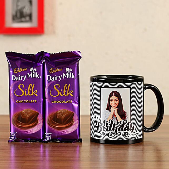 online silk chocolate with mug