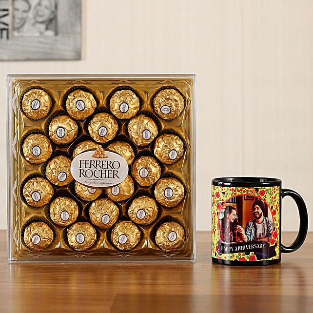 Personalised Black Mug Ferrero Rocher 24 Pcs