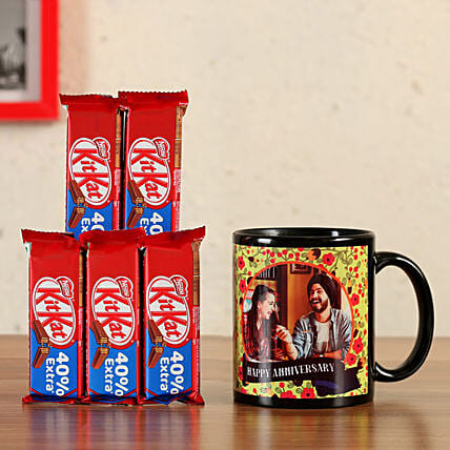 Personalised Black Mug KitKat