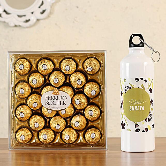 Personalised Bottle Ferrero Rocher 24 Pcs