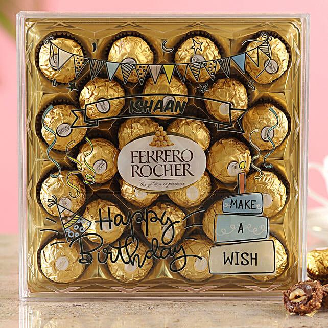 Personalised Birthday Ferrero Box:Customised Chocolates