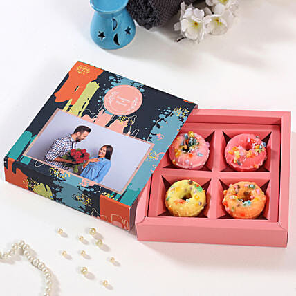 Donut Shaped Soap Personalised Box:Personalised Soaps