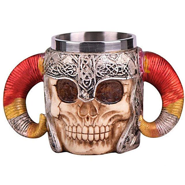 Online Warrior Skull Coffee Mug