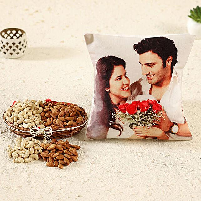 Personalised Birthday Cushion Dry Fruits Basket