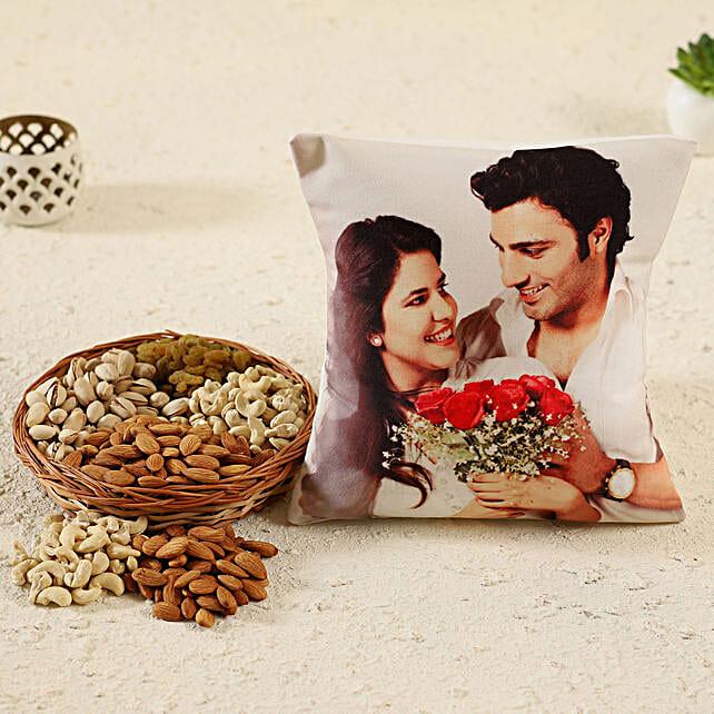 Personalised Cushion Dry Fruits Basket