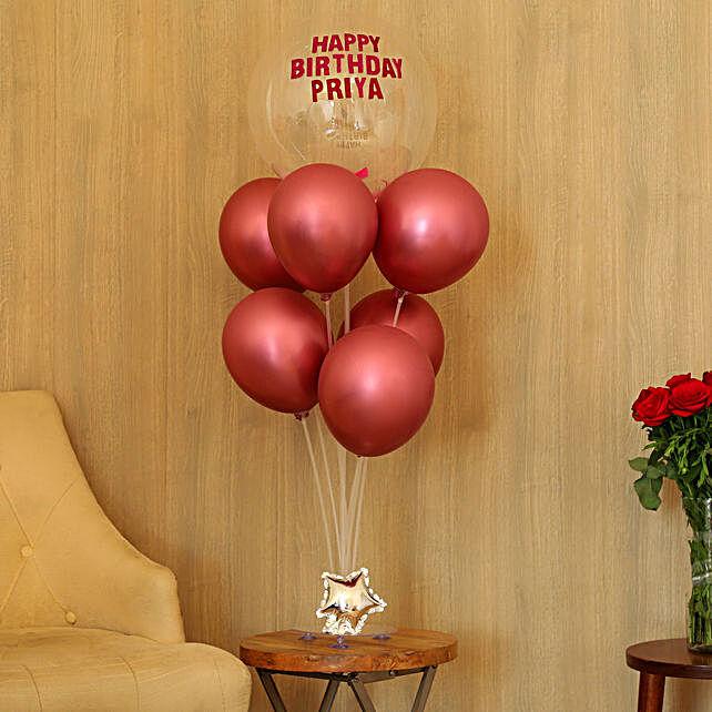 Shining Birthday Balloons for Girls