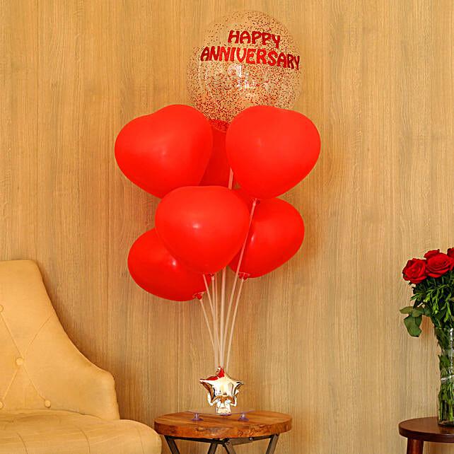 Red Anniversary Balloon Bouquet