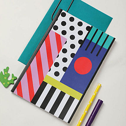 Online Abstract Softcover Notebook