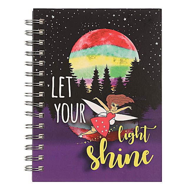 Online Shine Spiral Notebook